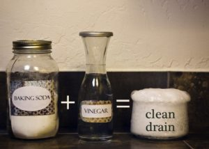 Vinegar, Baking Soda, and Boiling Water
